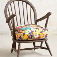 Cushioned Woodwork Chair by Anthropologie