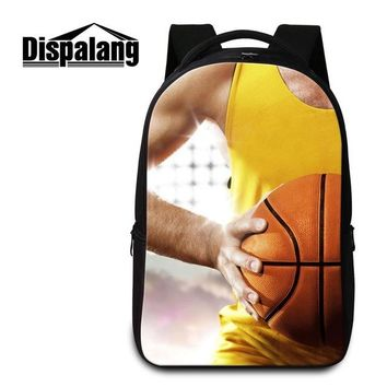 Cool Backpack school Dispalang Balls Patterns Cool Laptop Backpack for College Large Capacity Shoulder Book Bags for Boys High Quality School Bag AT_52_3