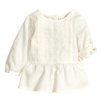 Embroidered Cotton Blouse - from H&M