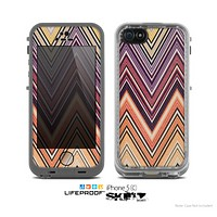 The Vintage Colored V3 Chevron Pattern Skin for the Apple iPhone 5c LifeProof Case