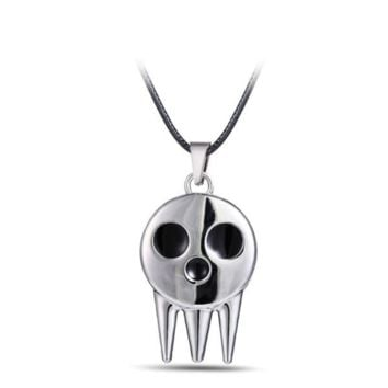Soul Eater Metal Necklace Death the Kid's Collar Skull Logo Pendant