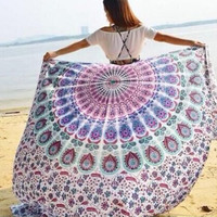 210cm*150cm Large Beach Towel Decorative Wall Hanging Picnic Beach Sheet Coverlet Bohemian Mandala Wall Tapestry 11741