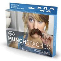 Brown Munchstache Cookie Cutters