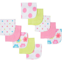 Walmart: Gerber Newborn Baby Girl Terry Print Washcloths, 10-Pack