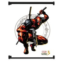 "Marvel vs. Capcom 3: Fate of 2 Worlds Game DeadPool Fabric Wall Scroll Poster (16""x21"") Inches"
