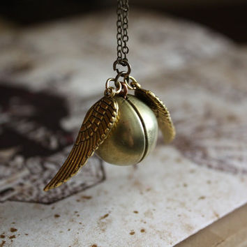 Harry Potter and the Deathly Hallows  Golden Snitch by spacepearls