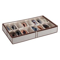 Tweed 16-Pair Underbed Shoe Organizer | The Container Store