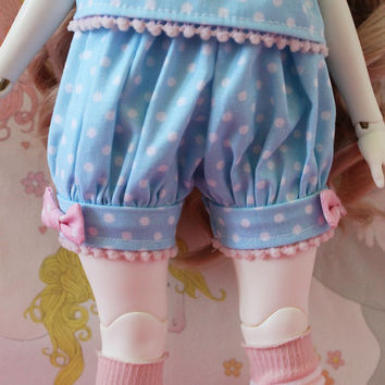 Pick Your Size - Fairy Kei Bloomers Blue and Pink Cute Lolita BJD Doll MSD YoSD Kaye Wiggs SD Super Dollfie Minifee