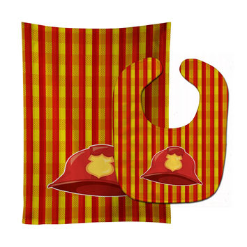 Fireman's Hat Baby Bib & Burp Cloth BB6997STBU