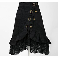 hippie boho clothing metal retro designs uk style online store a line gypsy skirt vampire cotton lace black midi skirts