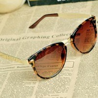 [dt9840]Cat Eye OverSized Round Sunglasses EWR92