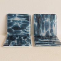 Fused Glass Coasters, Blue Adventurine, Lovely and Useful, Statteam
