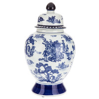 Blue & White Toile Canister with Lid - Large | Hobby Lobby | 5081252