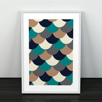 Abstract Print - Geometric Print - Gift Print - Wall Art - Wall Print - Abstract Wall Art - Modern Print - Scales Print - Scales Wall Art