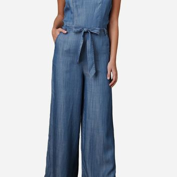 Logan Wide Leg Tencel Jumpsuit