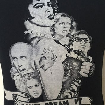 Rocky Horror Picture Show - Don't Dream It - Franknfurter features on this hand pulled screen printed tee