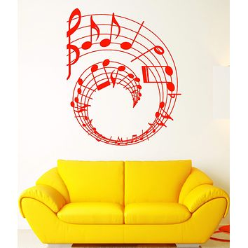Vinyl Wall Decal Notes Art Music Decor Clef Music School Stickers Unique Gift (1867ig)