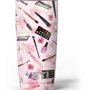 The Pink Out of the MakeUp Bag Pattern Yeti Rambler Skin Kit