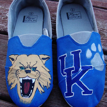 University of Kentucky Hand-Painted Canvas Shoes