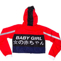 Baby Girl Racer Crop Windbreaker