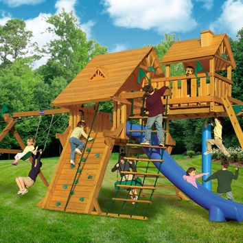 Playnation Colossal Kingdom Deluxe Wooden Swing Set