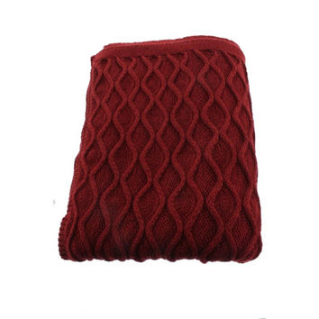 Hudson Park  Cable Knit Blanket Throw