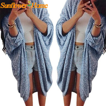 Newly Design Womens Lady Autumn Winter Casual Knit Long Coat Cardigan Sweater 160923 Drop Shipping Womail
