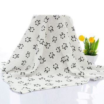 Vvcare BC-TK002 Baby Muslin Baby Swaddle Blankets Kids Soft Cotton Stoller Cover Bath Towel