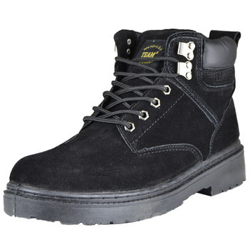 Mens Suede Leather Boots Black