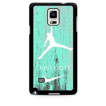 CREYUG7 Nike Jordan Mint Wood Samsung Galaxy Note 4 Case