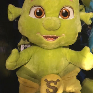 Universal Studios Shrek 4-D Baby Boy in Yellow Blanket Plush New With Tags