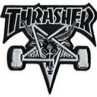 Thrasher Skateboard Magazine Punk Rock Music Skateboard Patch - Iron/Sew On New by Thrasher Magazine