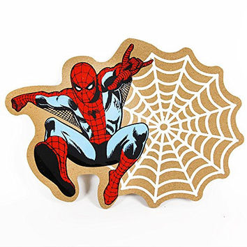 "Marvel Comics ""Spiderman"" Sticky Web Die Cut Cork Pin Memo Board"