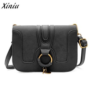 Xiniu Women Fashion luxury handbags Patchwork Round Hasp Crossbody Shoulder Bags Leather messenger bags bolsa feminina