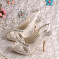Wedopus MW206 Fashion Summer Women's Sandals for Wedding High Heeled Bridal Shoes