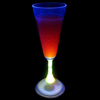 7 Color LED Champagne Flute - 6.5 Ounce (Each): Rebecca's Novelty Importer