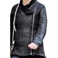 New Jennifer Lawrence Black Jacket 2014 | DesertLeather