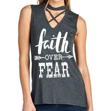 Sleeveless Graphic Top