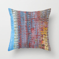 Journey Throw Pillow by Angela Bruno