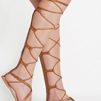 Faux Leather Gladiator Sandals | Forever 21 - 2000153093