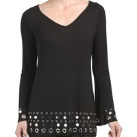 Belldini Sequin and Stud Bling Top