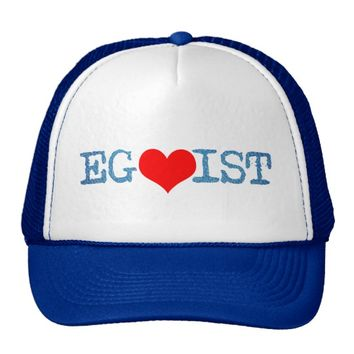 Egoist Red Heart Denim Trucker Hat