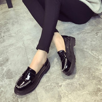 England Style Vintage Round-toe Casual Shoes [9432943754]