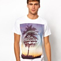 River Island | River Island T-Shirt with LA Print at ASOS