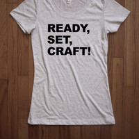 Ready set craft Women Tee shirt loose neck Bella