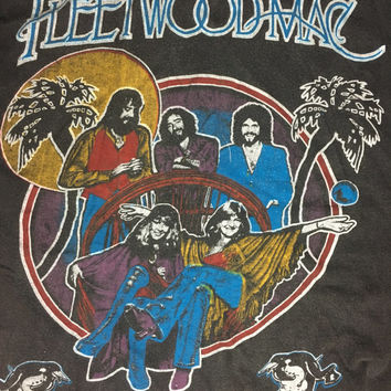 Rare vintage Fleetwood Mac tour shirt 70s/80s Stevie Nicks