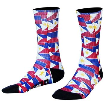 Philippines Flag Party Athletic Crew Socks