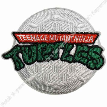 "3"" TMNT Patch embroidery embroidered Badge Teenage Mutant Ninja Turtles Costume Cosplay tv movie series iron on sew on applique"