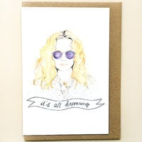 Almost Famous Greeting Card by Oh Gosh Cindy