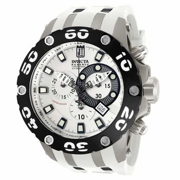 Invicta 12947 Men's Reserve Jason Taylor Specialty Silver Dial Chronograph Dive Watch